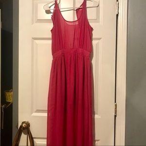 Dresses & Skirts - Pink Long Summer Dress